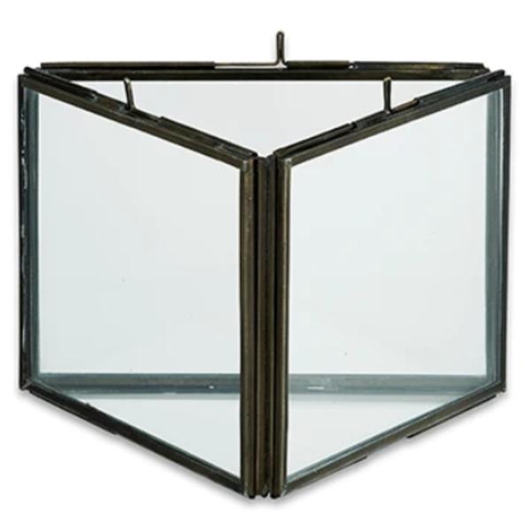 Nkuku Triple Panel Frame   Danta   Antique Black