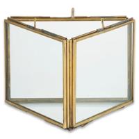 Nkuku Triple Panel Frame | Danta | Antique Brass