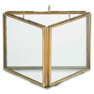 Nkuku Triple Panel Frame | Danta | Antique Brass