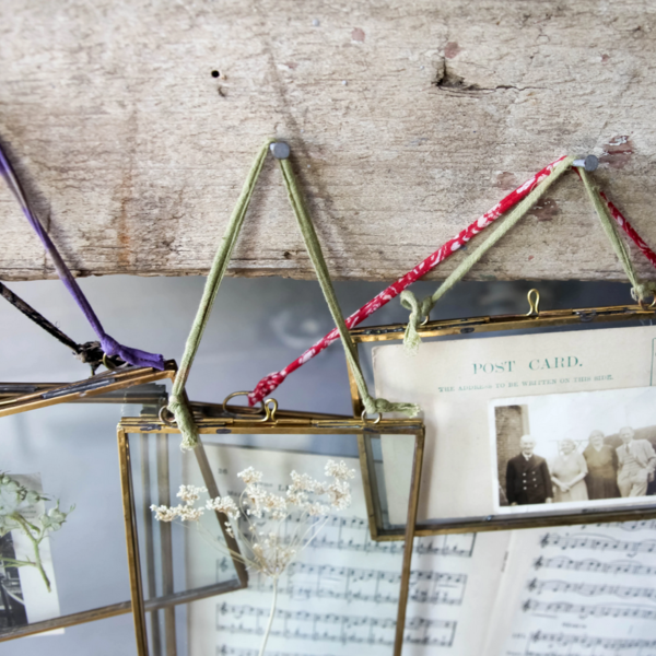 Nkuku Frame | Kiko | Antique Brass | Landscape