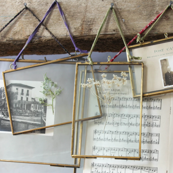 Nkuku Frame | Kiko | Antique Brass | Portrait