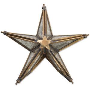 Nkuku Tree Topper | Bakara Star | Antique Brass