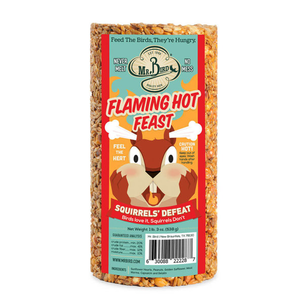 Bird Seed Cylinder | Small | Flaming Hot Feast