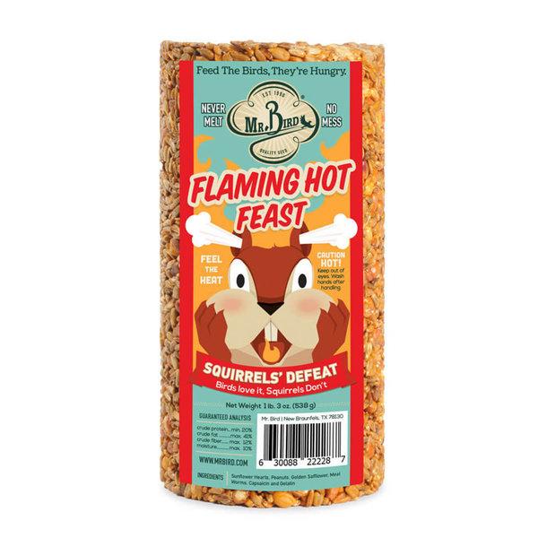 Mr. Bird Bird Seed Cylinder   Small   Flaming Hot Feast
