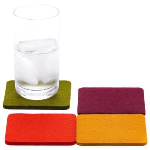 Coasters | 4-Pack | Merino Wool Felt