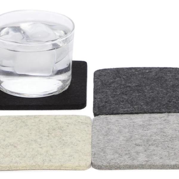 Graf & Lantz Coasters | 4-Pack| Merino Wool Felt