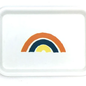 THREE potato FOUR White Trinket Tray | Small | Rainbow