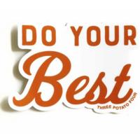 THREE potato FOUR Sticker | Do Your Best