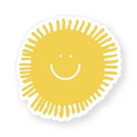 THREE potato FOUR Sticker | Happy Sun
