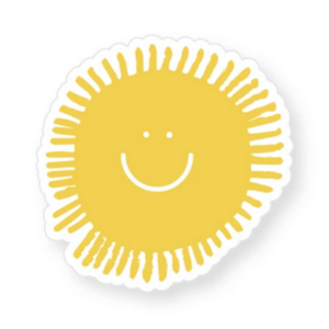 THREE potato FOUR Sticker | Happy Sun