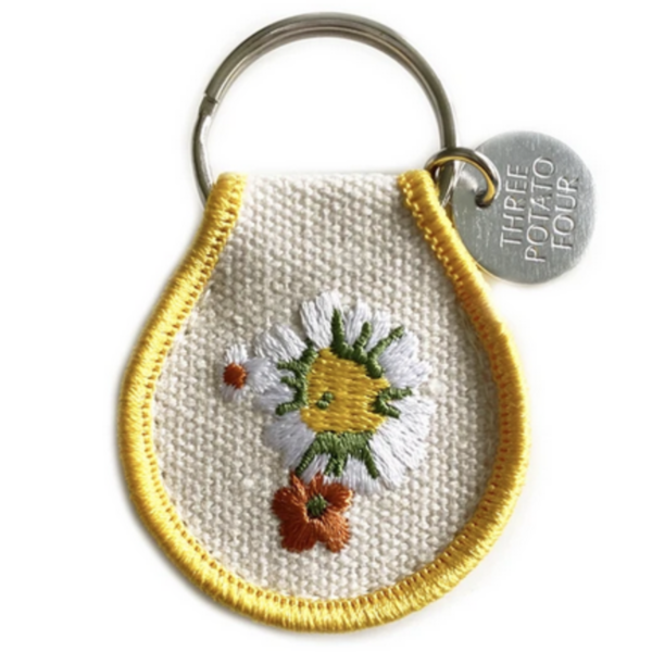 THREE potato FOUR Keychains   Patch Embroidered