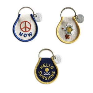 THREE potato FOUR Keychains | Patch Embroidered