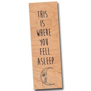 Fly Paper Wooden Bookmark | Fell Asleep