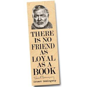 Wooden Bookmark | Ernest Hemingway