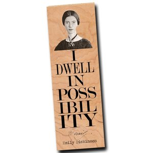 Fly Paper Wooden Bookmark | Emily Dickinson