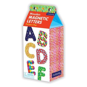 Chronicle Books Magnetic Wood Shapes | Pattern Pop Letters