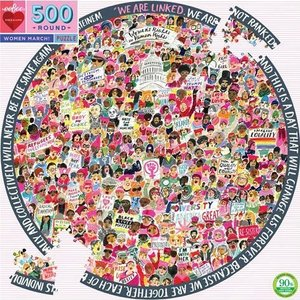 EEBOO Puzzle | 500pc Round | Women March!