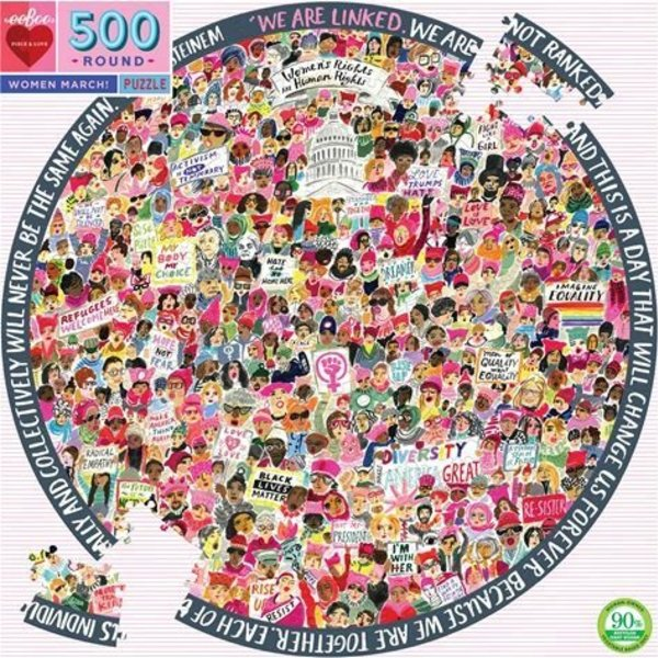 Puzzle | 500pc Round | Women March!