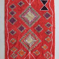 Kalalou Fringed Rug   Red