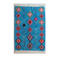 Kalalou Fringed Rug | Turquoise