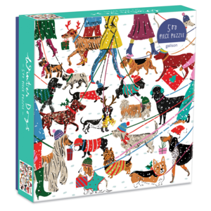 Chronicle Books Puzzle | 500pc | Winter Dogs