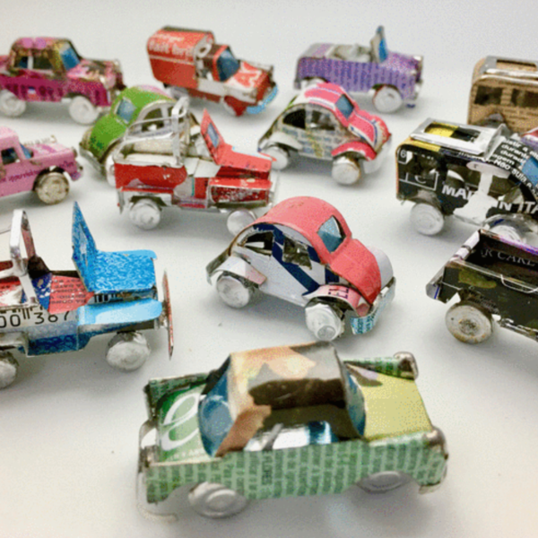Steve Parkes/The East Africa Co. Model Car   Upcycled Tin (Variety)
