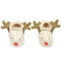 Baby Booties   Reindeer   0-6 Months