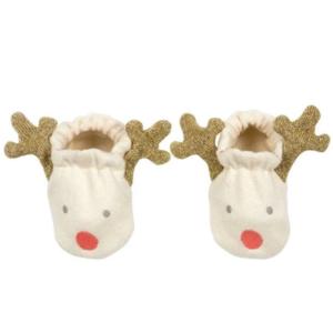 Meri Meri Baby Booties | Reindeer | 0-6 Months