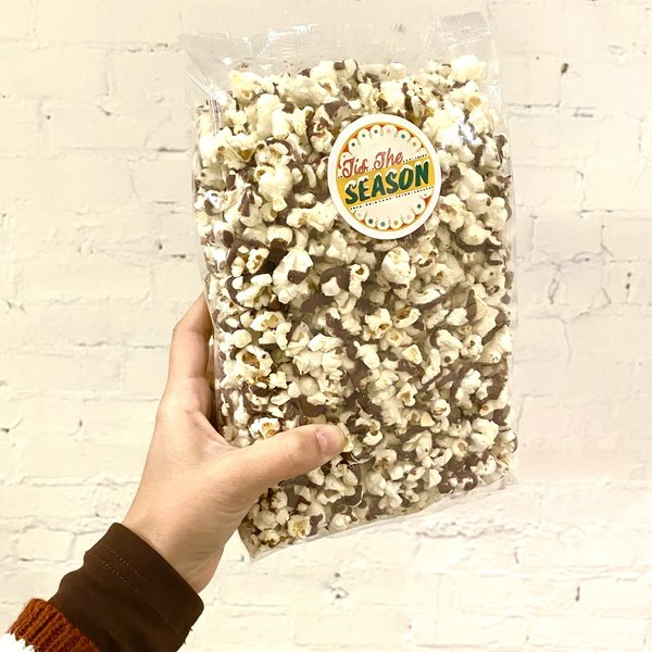 Sensational Sweets Popcorn Bag | Chocolate Drizzled