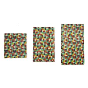Kikkerland Beeswax Wraps | Reusable | Multicolor
