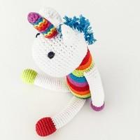 Pebble Crochet Rattle | Small Unicorn