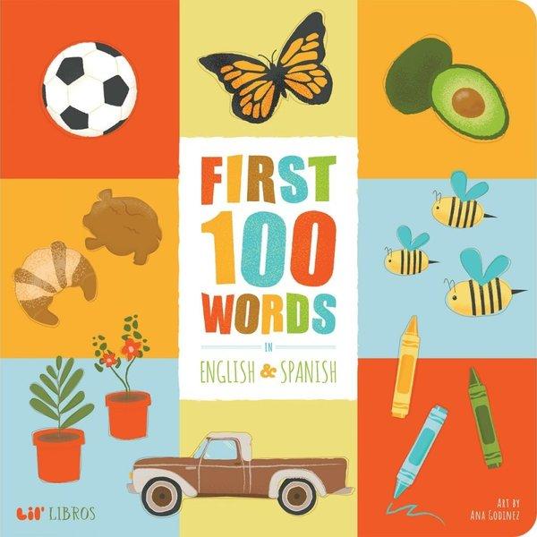 Gibbs Smith Board Book | First 100 Words | English/Spanish