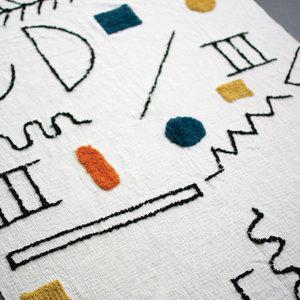 Kalalou Tufted Throw | Doodles