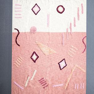 Kala Style Tufted Throw | White + Blush Detail