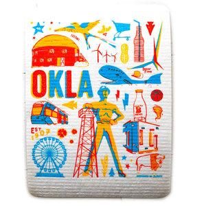 Fiddler's Elbow Hydro Cloth/PLENTY Made   Oklahoma Icons