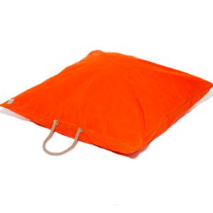 Found My Animal Dog Bed | Orange Waxed Canvas