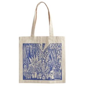 Bag Tote   Paradise Found Blue Illustration