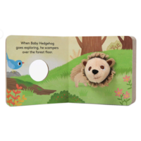 Chronicle Books Board Book | Finger Puppet | Baby Hedgehog