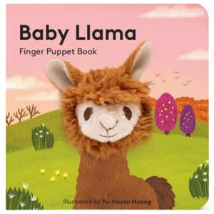 Chronicle Books Board Book | Finger Puppet | Baby Llama