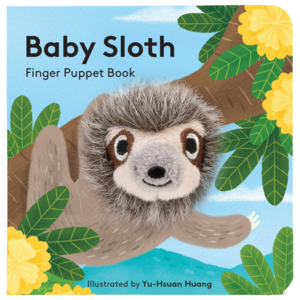 Chronicle Books Board Book | Finger Puppet | Baby Sloth
