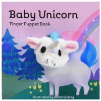 Chronicle Books Board Book | Finger Puppet | Baby Unicorn