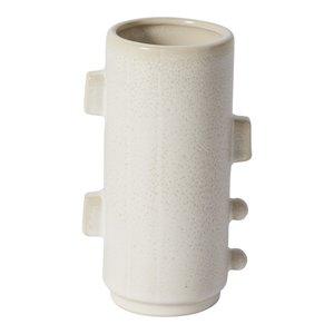 Accent Decor Vase | White Ceramic Abstract