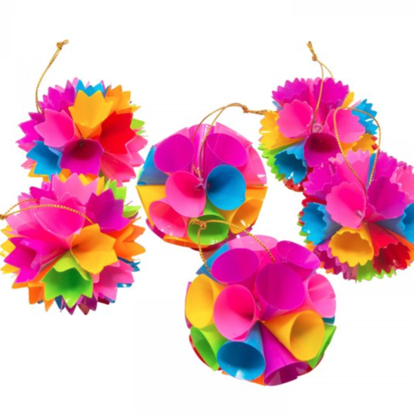 Acorn & Will Recycled Ball Decorations | Bright Neon