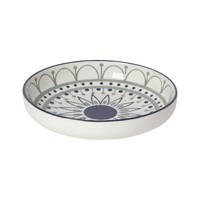 Now Designs Stamped Shallow Bowl | Black/Navy Sun