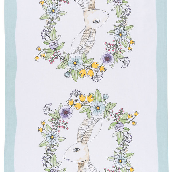 Now Designs Tea Towel | Spring Hop Print