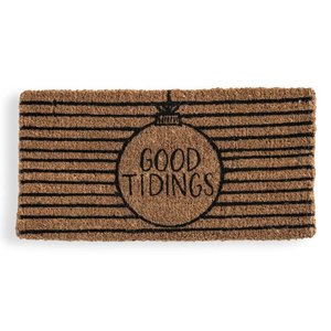 Creative Co-Op Doormat | Natural Coir | Good Tidings