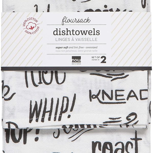 Now Designs Floursack Tea Towel   Set of 2   Cooking Technique