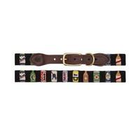 Needlepoint Dog Collar | Bottles of Beer