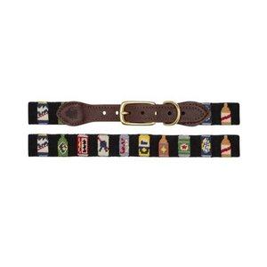 Good Threads Needlepoint Dog Collar | Bottles of Beer
