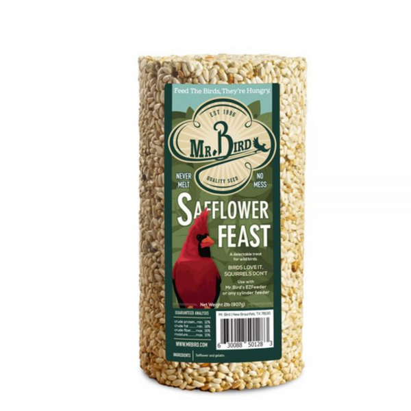 Mr. Bird Bird Seed Cylinder | Safflower Feast | Small